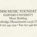 I am honored and pleased to have received a Fromm Music Foundation Commission for 2011.