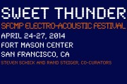 Palimpsest for the JACK Quartet will be performed at this year's Sweet Thunder Festival (hosts Rand Steiger and Steven Schick)